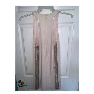 Light pink flowy shift dress with sequins